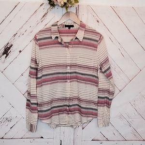 Sanctuary Striped Buttoned Down Shirt M